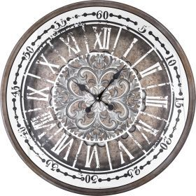 Часы настенные кварцевые 58,5*58,5*10 см. диаметр циферблата=51 см.-108-100