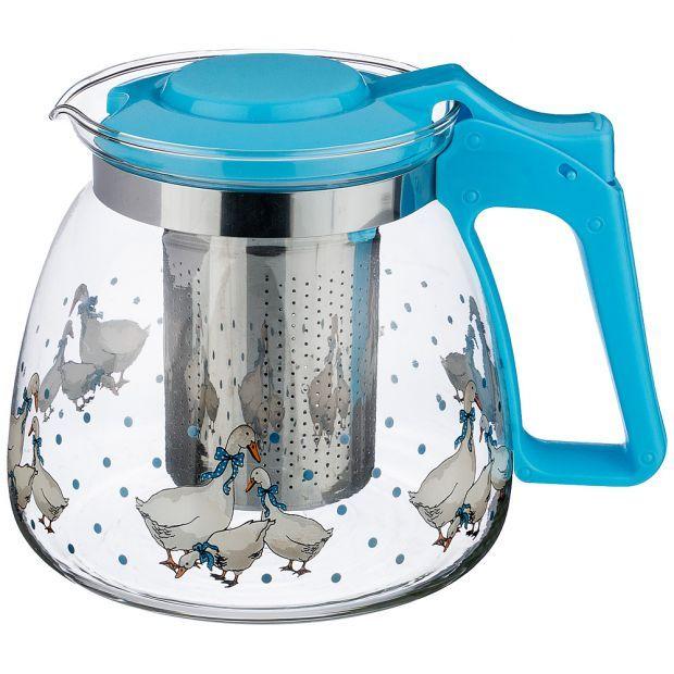"""Заварочный чайник с фильтром """"гуси"""" 900 мл.-885-020"""
