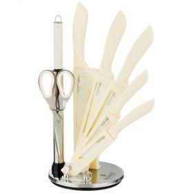 Набор ножей agness с ножницами и мусатом на пластиковой подставке, 8 предметов-911-674