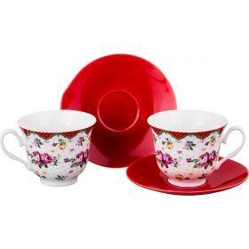 Чайный набор на 2 персоны 4пр. 220 мл.-165-383