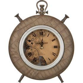 Часы кварцевые настольные 28*24*6 см.диаметр циферблата=15 см.-184-309