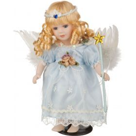 Фарфоровая кукла с мягконабивным туловищем высота=30 см.-485-218
