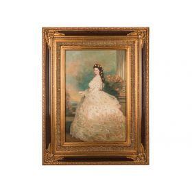 Картина масляная на холсте 90*60 см. багет 133*103 см.-107-1091