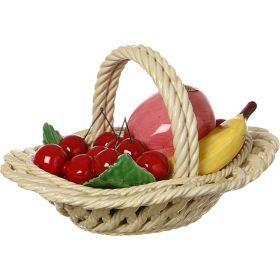 Изделие декоративное корзина с фруктами высота=15 см.25*18 см.