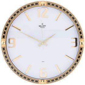 Часы настенные кварцевые диаметр 39,5 см диаметр циферблата 34,9 см (кор=10шт.)-207-321