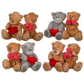 Набор игрушек из 2 шт.в подарочной коробке высота=10 см.15*13*7 см.4 вида (кор=120набо