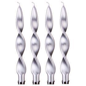 Набор свечей из 4 шт. 27/2,2 металлик серебряный-348-619