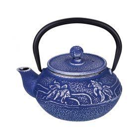 Заварочный чайник чугунный с эмалированным покрытием внутри 300 мл.-734-061