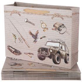Комплект бумажных пакетов из 10 шт. 46,5*35*14,5 см. (кор=15комп.)-521-185