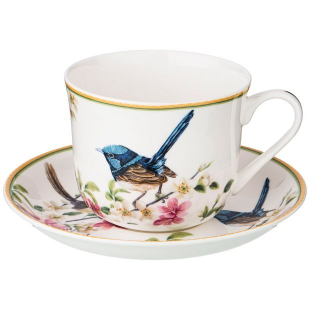 "Чайный набор на 1пер. ""цветущий сад"" 2 пр. 500мл (кор=18шт.)-104-557"