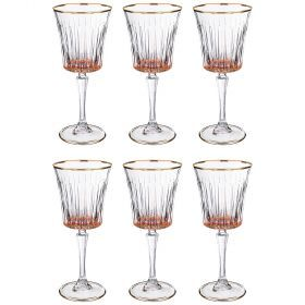 Набор бокалов для шампанского из 6 шт. 250 мл. высота=25 см.-661-033