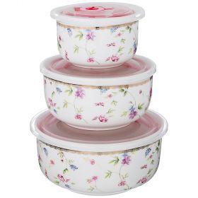 Набор контейнеров для пищевых продуктов из 3 шт. 100/800/300 мл. диаметр=15/13/10 см.-274-860