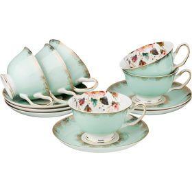 Чайный набор на 6 персон 12 пр. 200 мл.-275-896