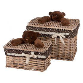Набор корзинок для игрушек с крышками из 2-х шт. l:37*27*26/s:29*20*16 см.