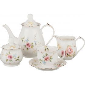 Чайный сервиз на 6 персон 15 пр. 1000/200/300/300 мл.-590-199