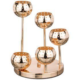 Подсвечник 5-ти рожковый диаметр=20 см.высота=27 см.-39-410