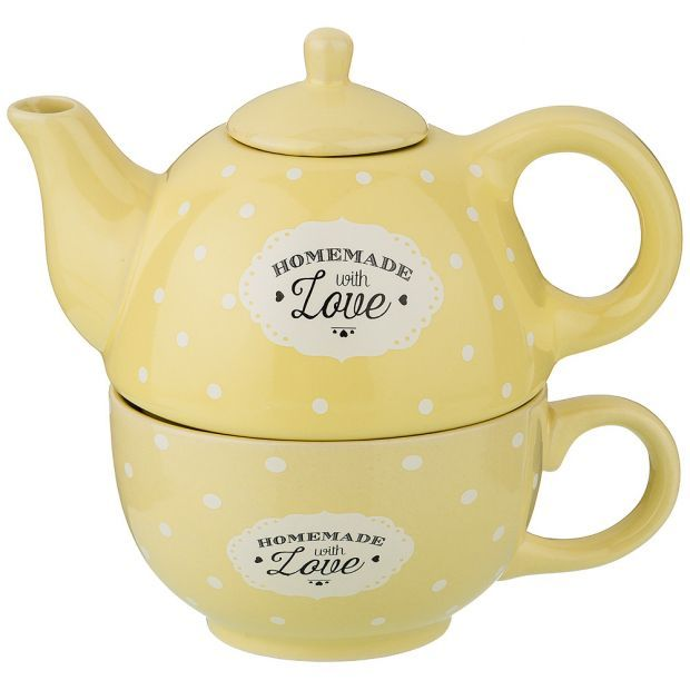 Набор 2 пр. чайник объем 330 мл и чашка объем 280 мл  16*10*14,5 см-155-391