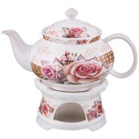 Чайник заварочный на подставке 700 мл.-165-399