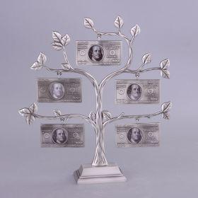 Фоторамка денежное дерево на 5 фото 4*3,5 см.высота=29 см.