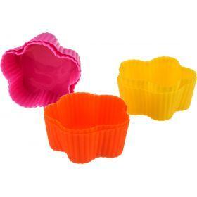 Набор силиконовых форм для выпечки из 6шт.диаметр=6,5 см. (мал=20шт./кор=80наб.)-710-116