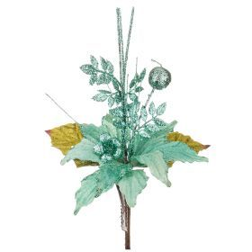 Цветок искусственный пуансетия диаметр=15см на клипсе