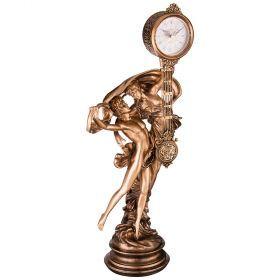 Часы настольные кварцевые 38*28*84 см. диаметр циферблата=10 см.-204-177