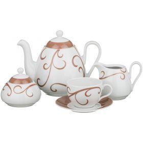 Кофейный сервиз viola sk012 на 6 персон 15 пр.1300/250/300/300 мл.