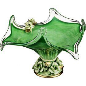 Декоративная чаша 38*38 см. высота=22 см.-647-656