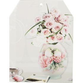 Подставка под горячее цветы в вазе 16,5*21 см.