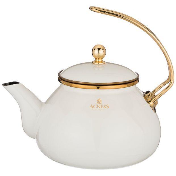 Чайник agness эмалированный, 2,2л подходит для индукц.плит-950-251