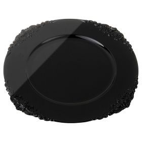 Пластиковая подстановочная тарелка 35,5*35,5*2 см. без упаковки-505-064