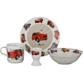 Наборы посуды на 1 персону 4пр.:миска,тарелка,кружка 200 мл.,подставка под яйцо-87-058