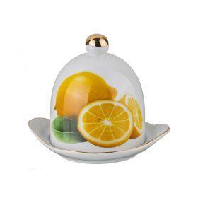 Лимонница с крышкой длина=12 см высота=11 см-178-344