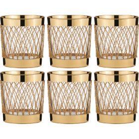 Набор стаканов для виски из 6 шт.300 мл.высота=9 см.-103-496