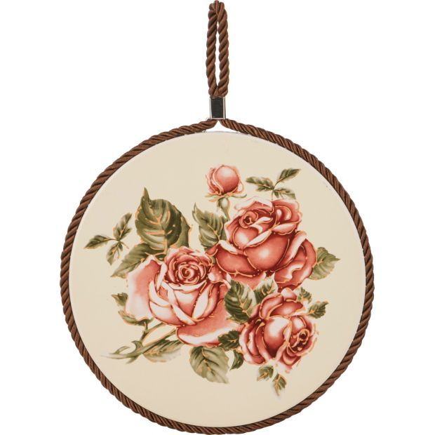 """Подставка под горячее """"корейская роза"""" диаметр=16 см.-69-2489"""