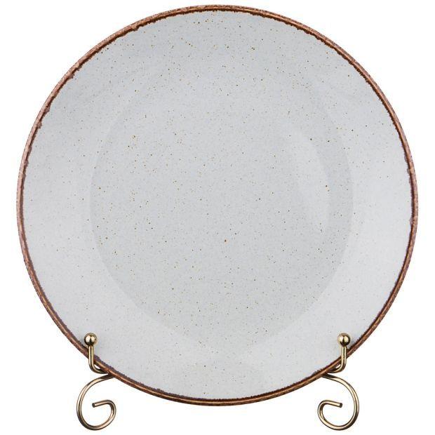 Тарелка seasons плоская 24 см цвет серый (кор=12шт.)-664-198