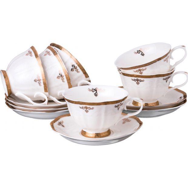 Чайный набор на 6 персон 12 пр. 220 мл.-779-199
