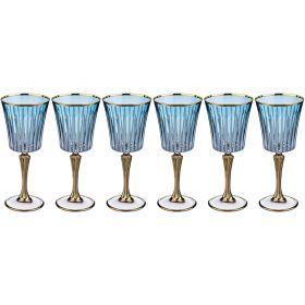 Набор бокалов для вина из 6 шт. 250 мл. высота=21 см.-103-540