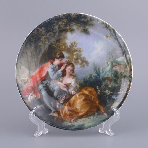 Тарелка настенная диаметр 19 см. (кор=1шт.)-662-577