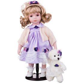 Кукла фарфоровая высота=36 см.-346-234