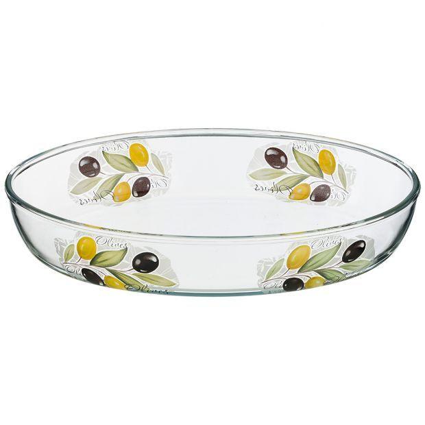 """Форма для запекания """"оливки"""" овальная 3,2 л 35,1*24,5*6,4 см (кор=4шт.)-484-747"""