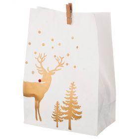 Комплект пакетиков для подарков с прищепкой из 24 шт. 14*20 см (кор=16 комп.)-845-109