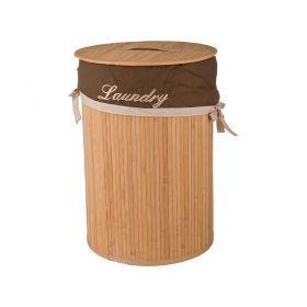 Корзина для белья бамбук диаметр 34*50 см.