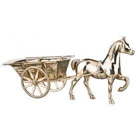 Статуэтка лошадь с повозкой длина=45 см. высота=22 см.