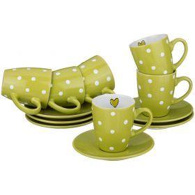 Кофейный набор на 6 персон 12 пр. 100 мл.-584-082