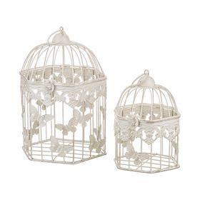 Набор клеток для птиц декоративных из 2-х шт.l:21*18*29,s:16*14*20 см-123-172