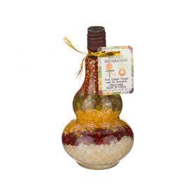 Декоративная бутылка диаметр=7 см. высота=14 см.