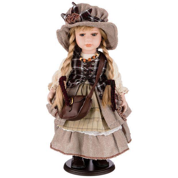 Кукла фарфоровая декоративная высота 42см-346-266