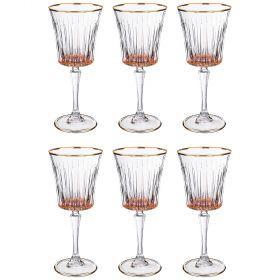 Набор бокалов для вина из 6 шт. 250 мл. высота=21 см.-103-593