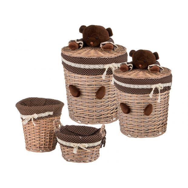Набор корзин для игрушек из 4-х шт. l:ф45*55. m:ф37*40. s:ф26*26. xs:ф26*14 см.